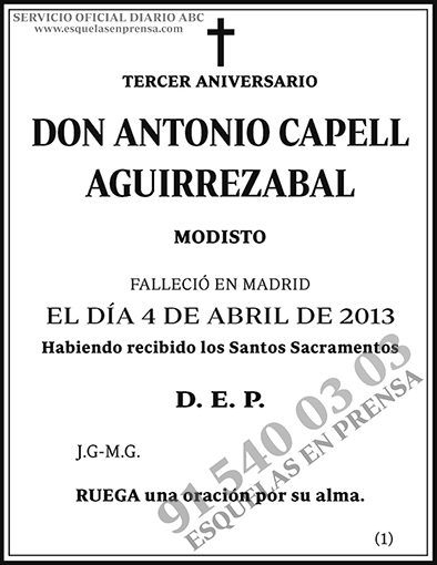 Antonio Capell Aguirrezabal
